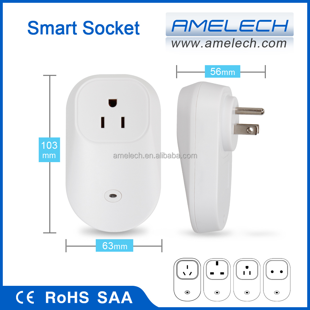 ce rohs ac 110v 220v 230v 240v us eu uk au wifi smart auto on off outlet