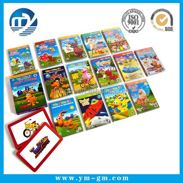 Custom made waterproof plastic pvc educational learning card for students