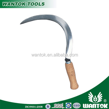 Sharp And Smooth Blade Reaping Cutting Sickle With Hard Wood Handle - Buy  Sharp And Smooth Sickle,Freshly Cut Sickle,Hay Cutting Sickle Product on