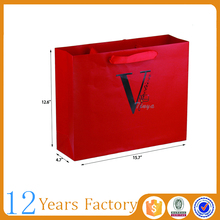 branded apparel packaging red paper bag