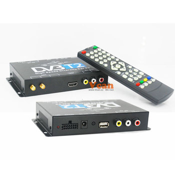 DVB-T221 Car DVB-T2 DVB-T Multi PLP Digital TV H264 HD DVB-T2 Auto mobile set top box TNT high speed 2 antenna 2 tuner diversity