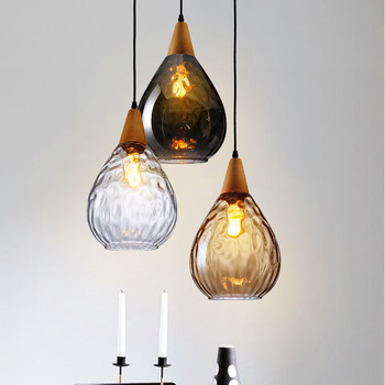 canada industrial style hanging lighting vintage glass pendant light