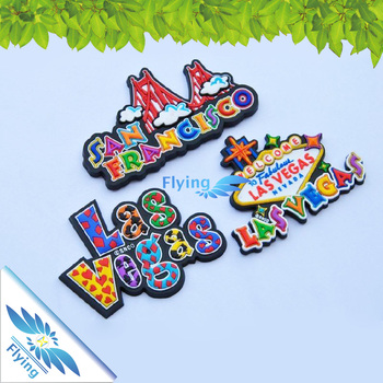 Beautiful 3D Soft PVC Fridge Magnet Custom Refrigerator Magnet flying