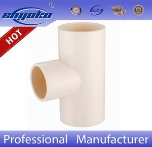 pvc tee astm D2467 sch80 straight tee pvc/cpvc pipe and fittings