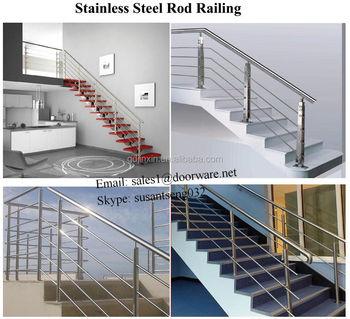 Interior Metal Stair Railing, Mild Steel Handrail For Staircase