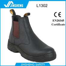 anti-puncture industry elastic action leather safety shoes