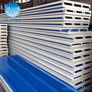 PU insulated metal panel systems roof iso board
