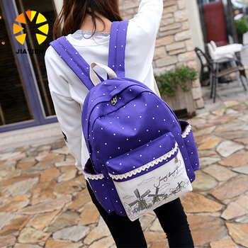 5f82c2ec9a Ethnic Women Backpack For School Teenagers Girls Vintage Stylish Ladies Bag  Backpack Female Purple Dotted Printing High Quality - Buy Backpack For ...