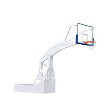 Top quality hydraulic basketball goal tempered glass basketball hoop stand