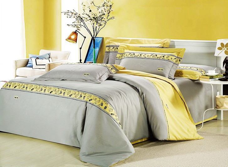 Gray Yellow Comforter Promotion-Shop For Promotional Gray