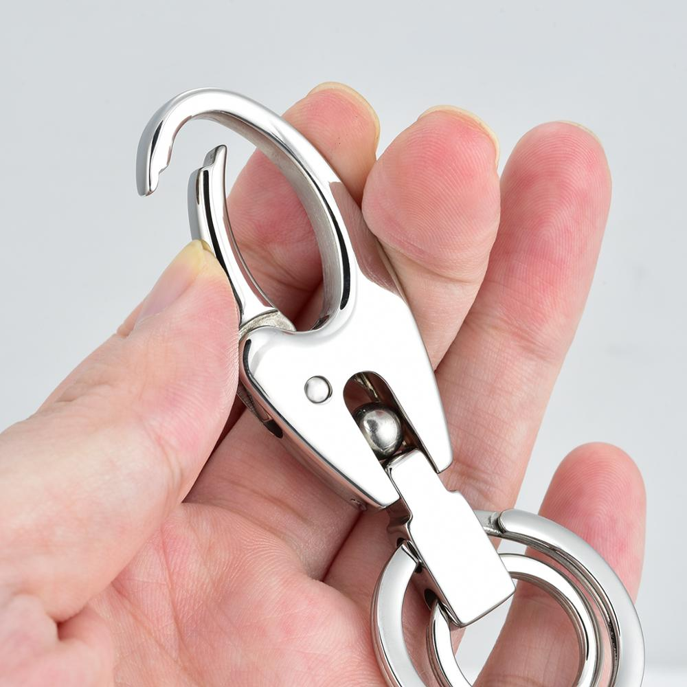 Wholesale High Quality Custom Blank Stainless Steel Ring Lobster Keychain