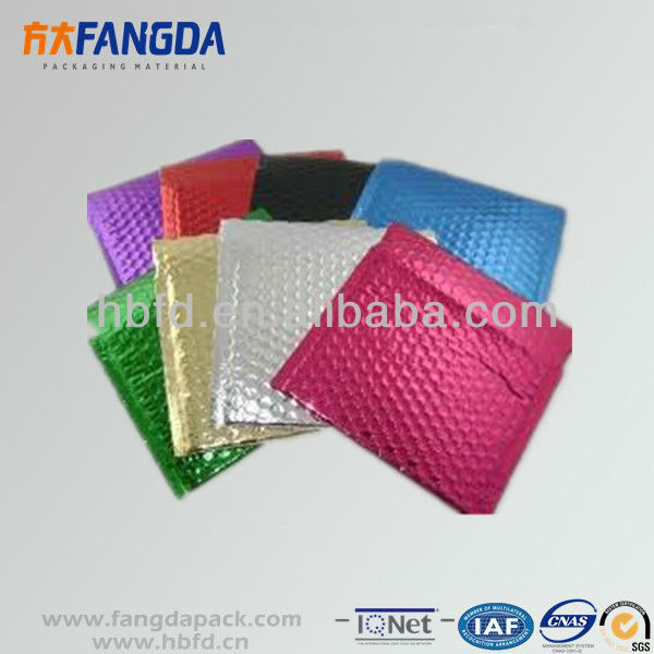 Colorful aluminizer bubble envelope, bubble mailer