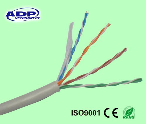 305m roll cat5e cable /best price utp cat5e lan cable/4 pair twisted lan cable