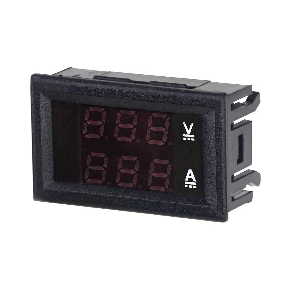 High Quality Dc 100v 10a Voltmeter Ammeter Blue   Red Led