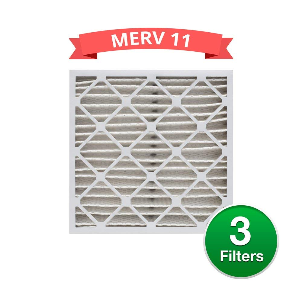 Replacement MERV 11 Pleated 16x20x4 Air Filters for Honeywell FC100A1003 (3 Pack)