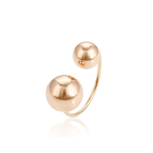 14906 Xuping cheap wholesale fine jewelry rose gold plated beads shaped opening finger ring