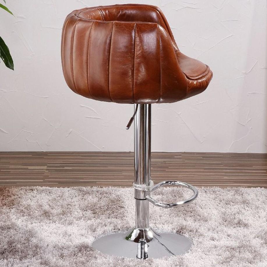 Antique Chaise De Bar En Cuir Veritable De L Aviation Chaises Et