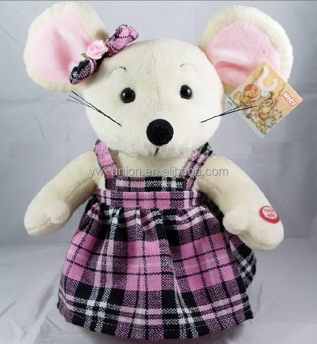 cute white mouse battery-operated toys
