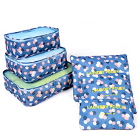 Custom Foldable Waterproof Polyester Travel Luggage Organizer Bags Packing Cubes Travel bag 6pcs set