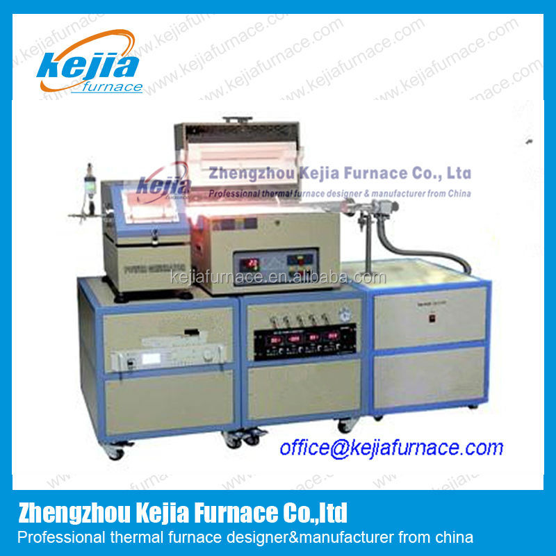 Compact slidable plasma CVD tube furnace for refractory ceramic and metallic coating