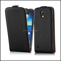 Luxury Genuine Real Flip Leather Case Wallet Cover for Samsung Galaxy S4 Active
