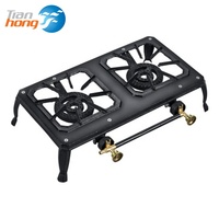 New good quality 2 burner cast iron gas stove spare parts