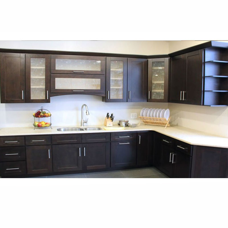 Dark Brown Gray Pvc Kitchen Cabinet In Modern Style Made In China Buy Kitchen Cabinet In Kerala Built In Cabinet Affordable Modern Kitchen Cabinets Product On Alibaba Com