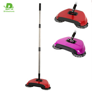 Rotating hand push sweeper 360 cordless manual broom for floor cleaning