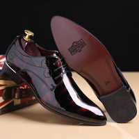 cz18041a New italian design patent leather pointed toe oxford dress shoes plus size 46 47 48 italian men shoes