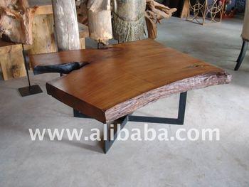 Teak Wood Solid Slab 1 10 Meter Coffee Table