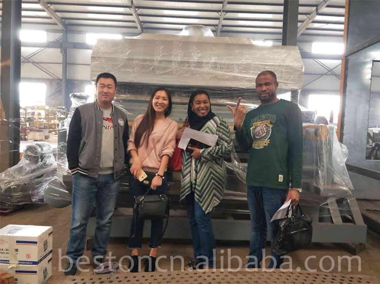 BESTON BTF-5-8 5000-7000 piece/h New molded pulp egg tray  making machine for small business