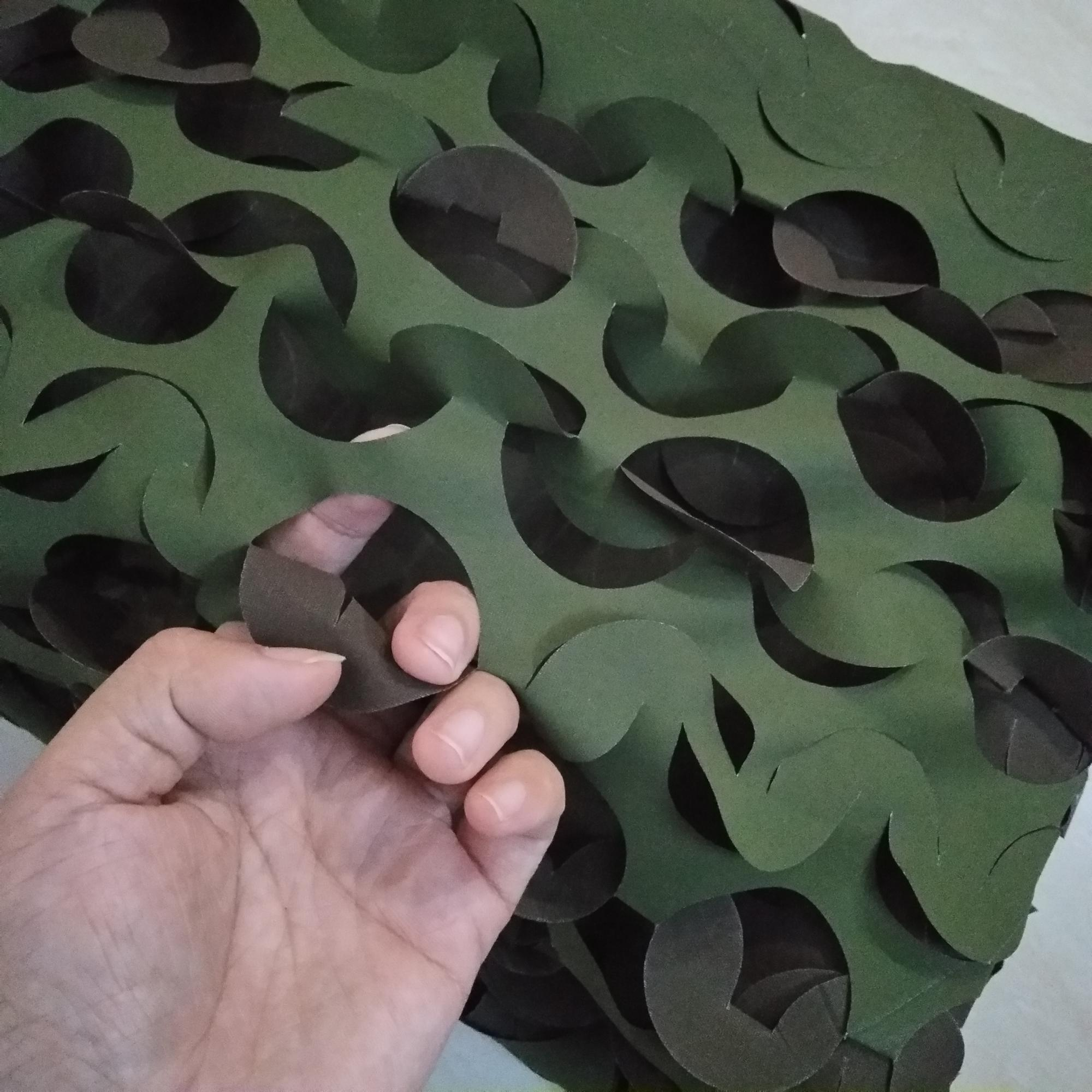 Reversible Single Layer  Woodland Camo Net Green Camouflage Netting