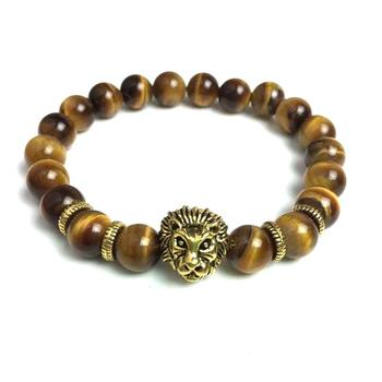 Powerful Meaning For Status Yellow Tiger Eye Beads Lion Head