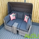 Audu All Weather Steel Day Beds Outdoor Rattan