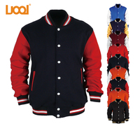 High Quality Cheap Price Warm Button Front Side Pockets Custom Men Wholesale Satin Baseball Jackets