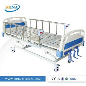 MINA-MB002 Hot sale Durable and economical adjustable Manual icu hospital bed