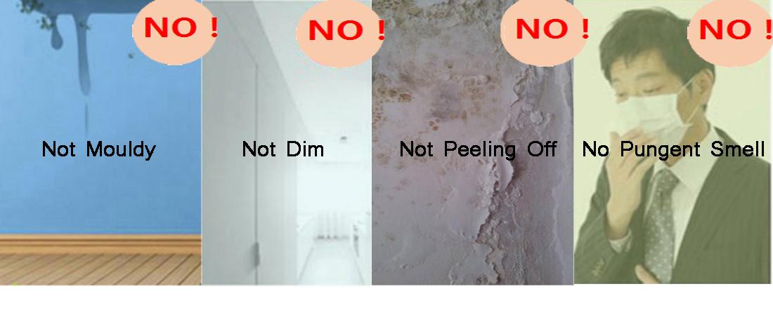 Struttura acrilica tabella di colore in polvere a spruzzo casa disegno della parete della vernice