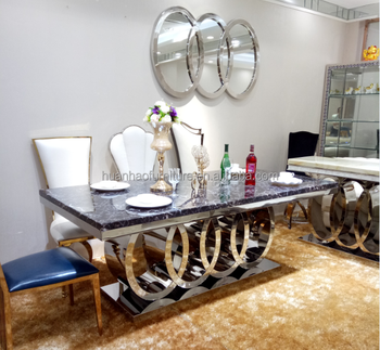 Master china home furniture luxury marble stainless steel dining tables  chair sets, View master home furniture, Huanhao Furniture Product Details  from ...
