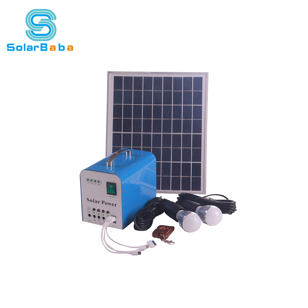 Energy Saving portable Led Light Product 10w home Solar Kit