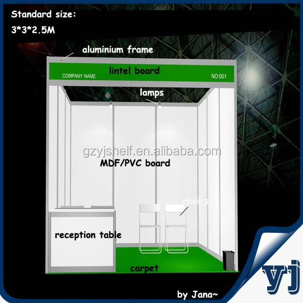 2015 Standard Aluminium Double Deck Tradeshow Booth/Modular Booth At Lowest Factory Price