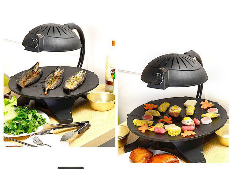 Korean Electric BBQ Grill Table Top Roaster 3D Infrared BBQ Grills