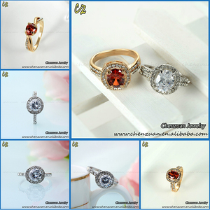 High quality micro pave zircon stone ring jewelry ladies finger gold ring design red coral stone rings