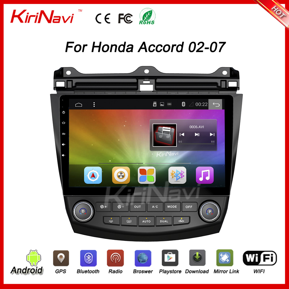 "KiriNavi WC-HA1027 10.2"" andriod 6.0 car radio dvd for honda accord audio 2002 - 2007 USB bluetooth"