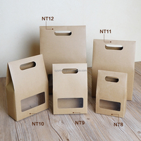 Custom printing decorative box hand bag kraft paper window boxes tea bean walnut nut folding paper box