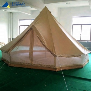Adult Bed Canvas Bell Tent 5m with mesh wall