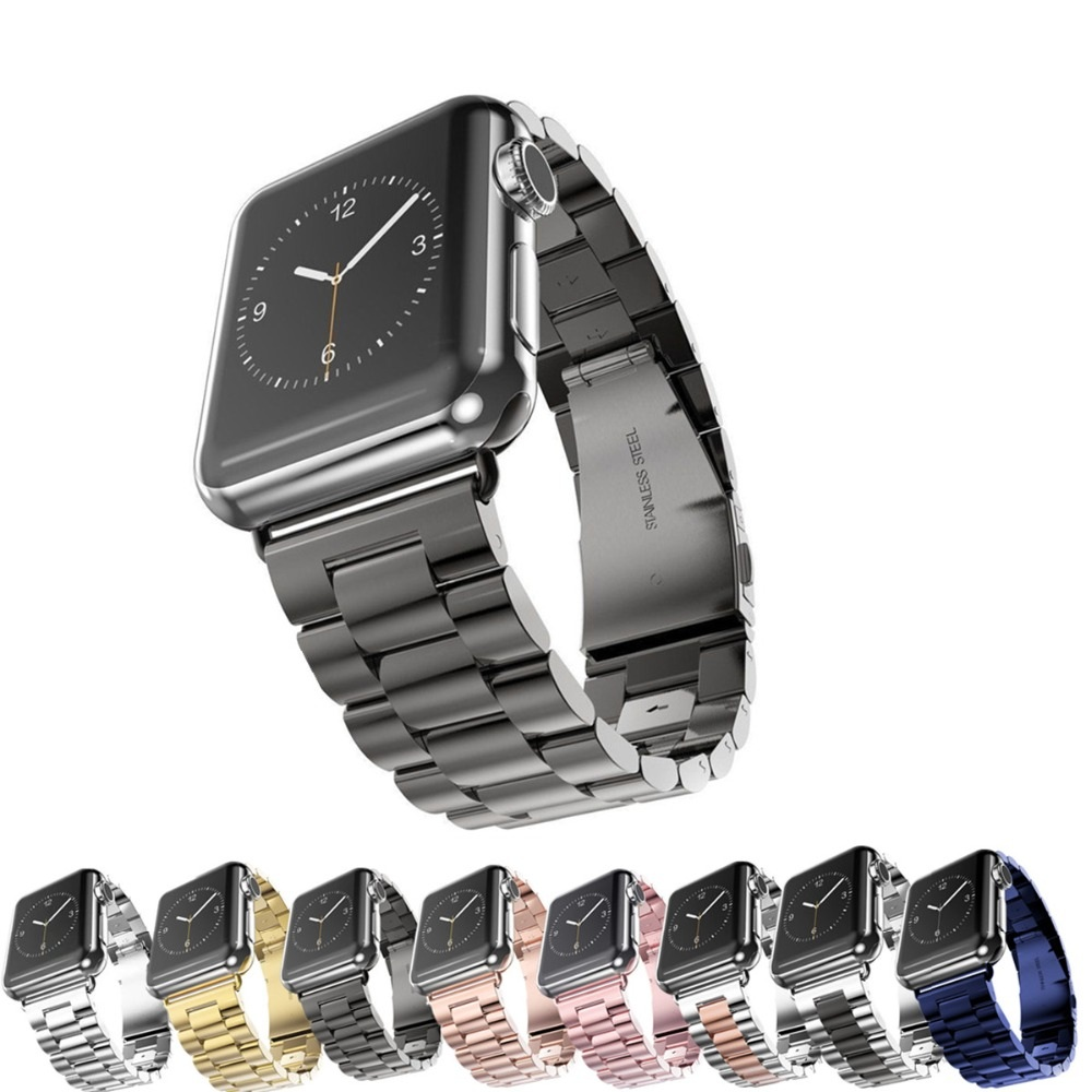 Good Quality Stainless Steel Sport Strap For Apple Watch Band 38mm 42mm Metal Bracelet фото