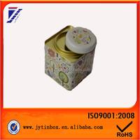 Fashional design custom design square coffee tea tin box food grade tin containers