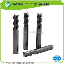 3 flute solid carbide cobalt end mill with corner radius milling cutter cutting tool for cnc router machine