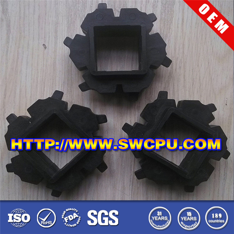 Customized precision injection molding nylon square hole plastic gear