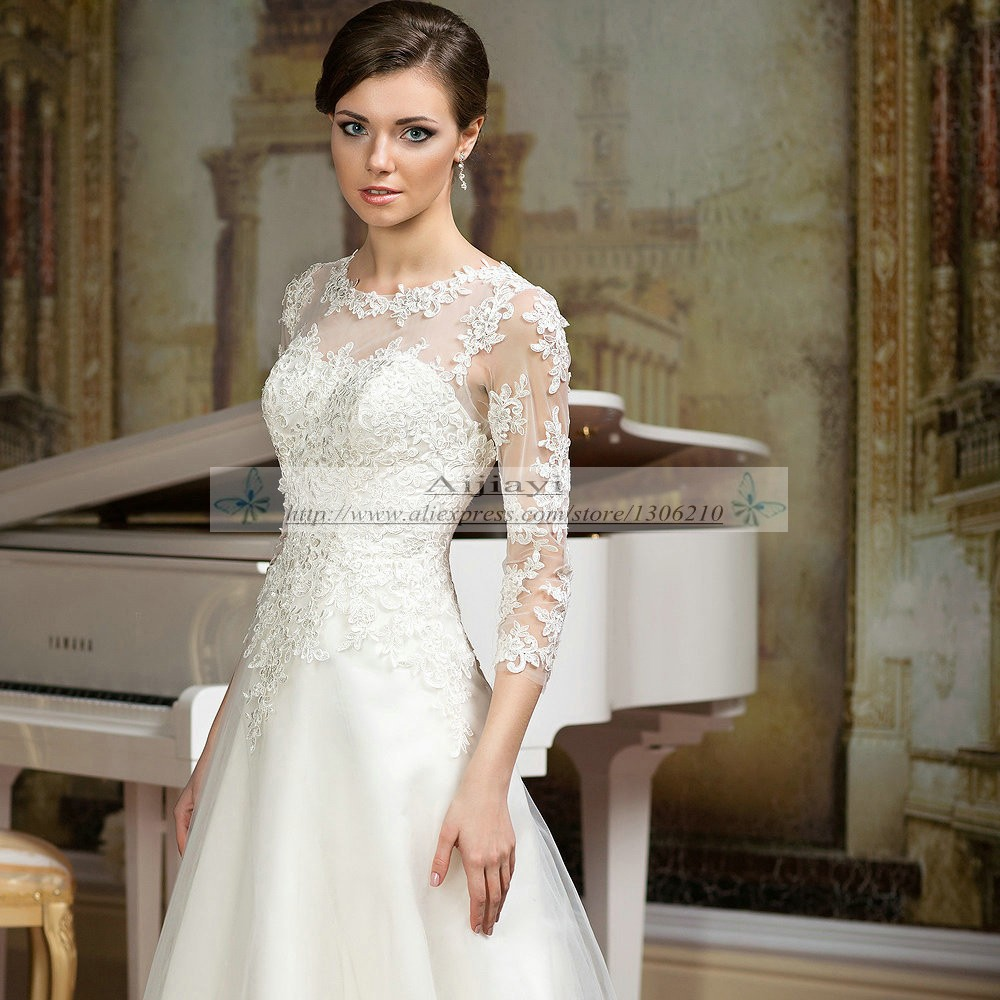 Simple Elegant Country Style Wedding Dresses With Lace: Cheap Simple Wedding Dresses